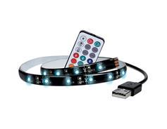 Solight 4 ks LED RGB pásek pro TV, 2x 50cm, USB, vypínač, dálkový ovladač WM504